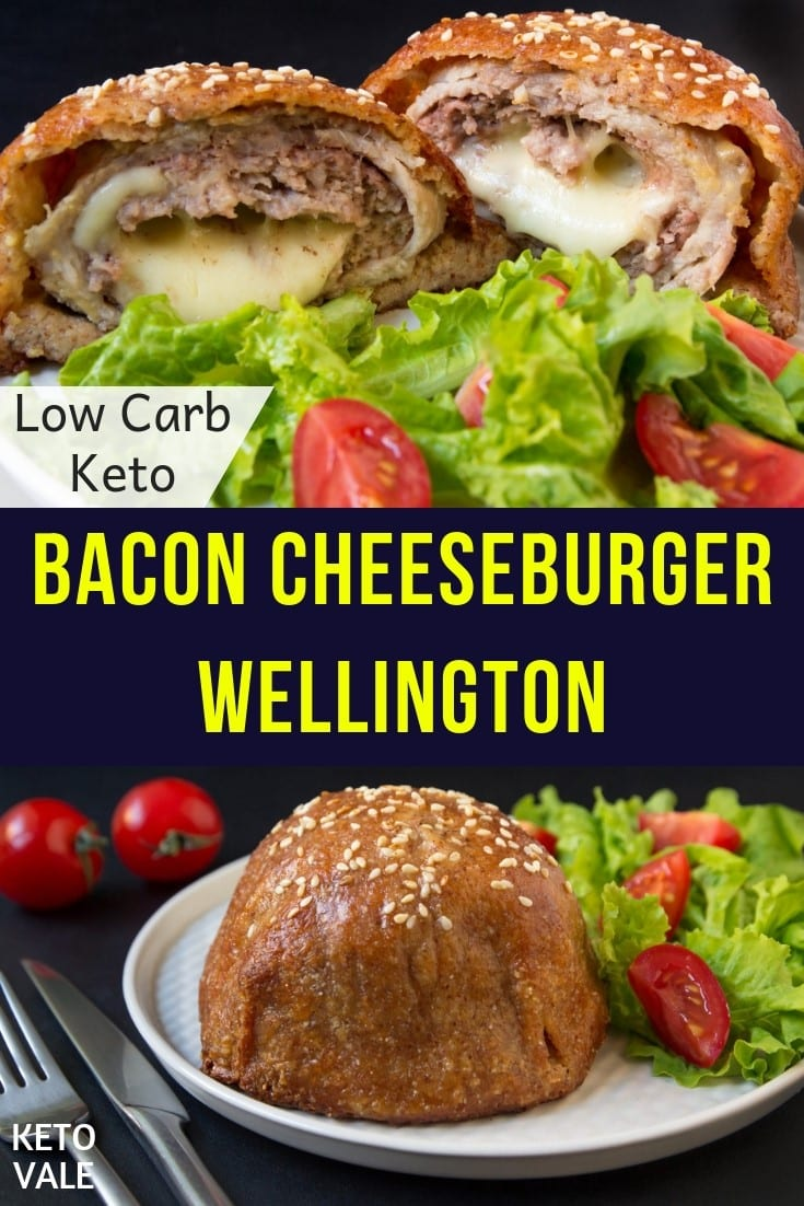 Keto Bacon Cheeseburger Wellington