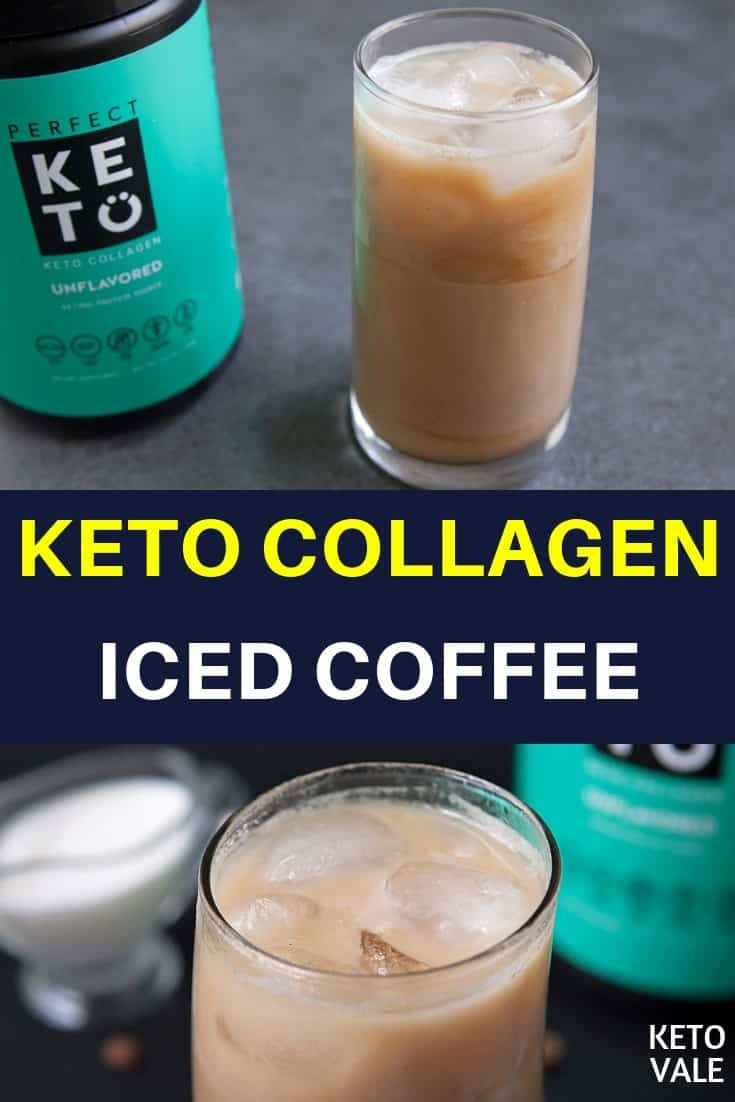 keto collagen iced coffee