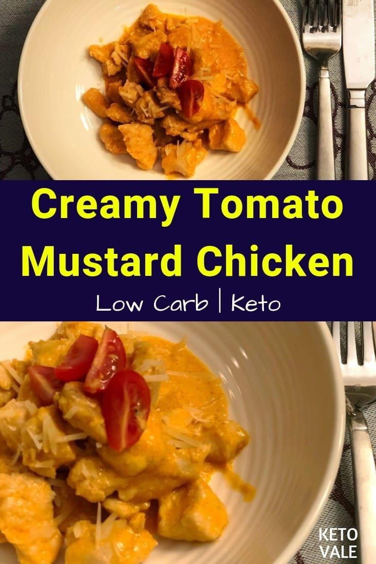 keto creamy tomato mustard chicken