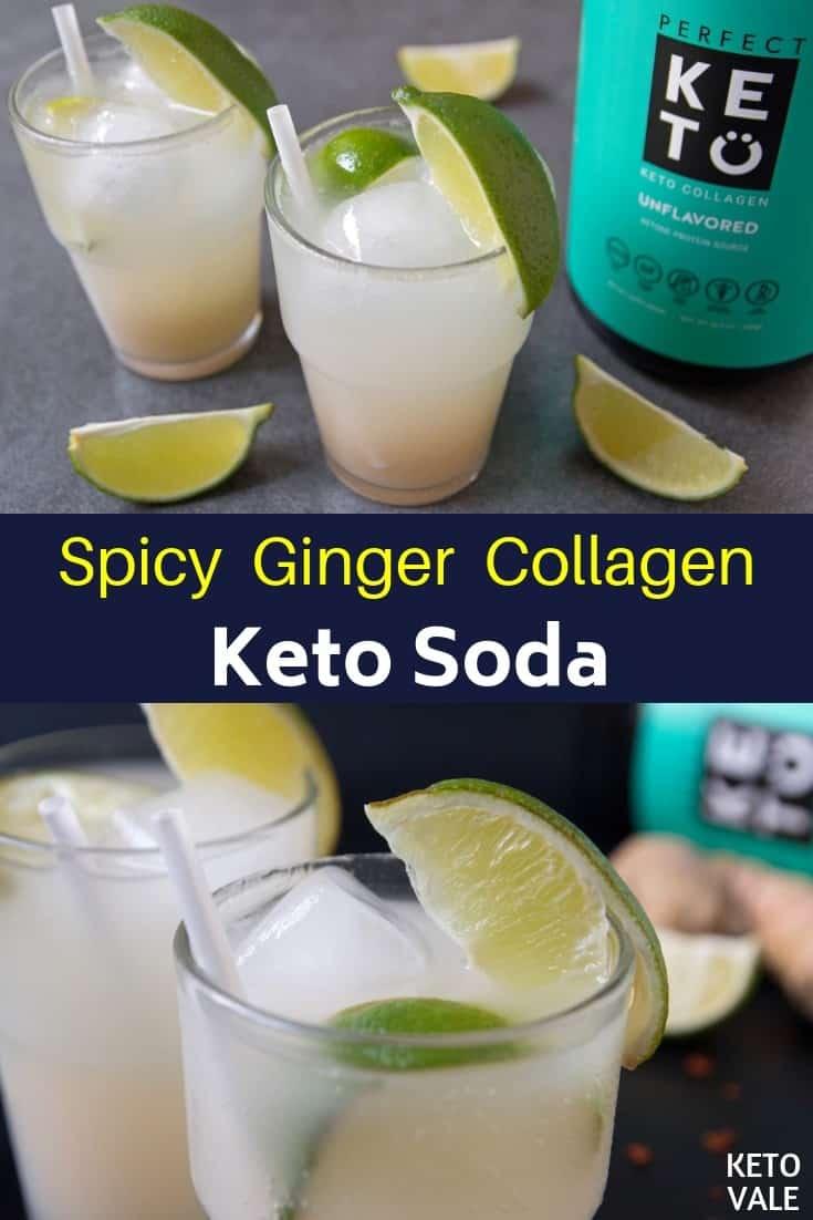 keto spicy ginger soda