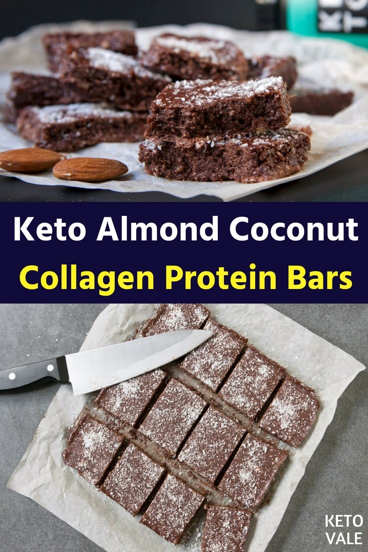 low carb almond coconut protein bars