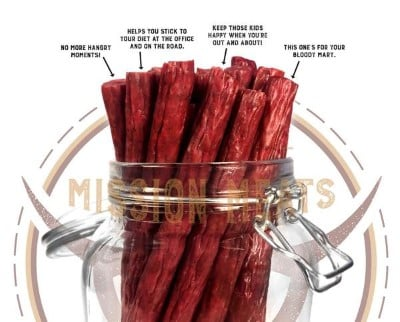 Mission Meats Beef Sticks