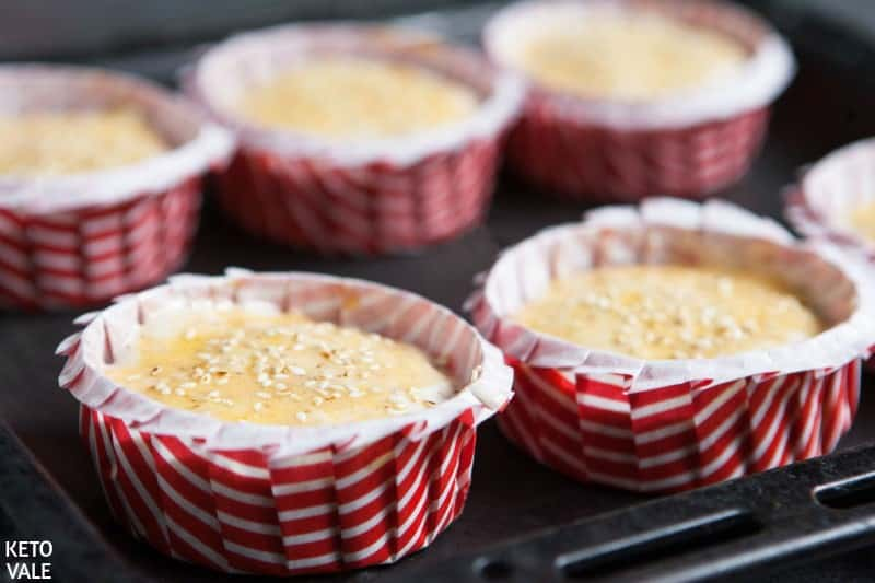 pour batter into muffin pan