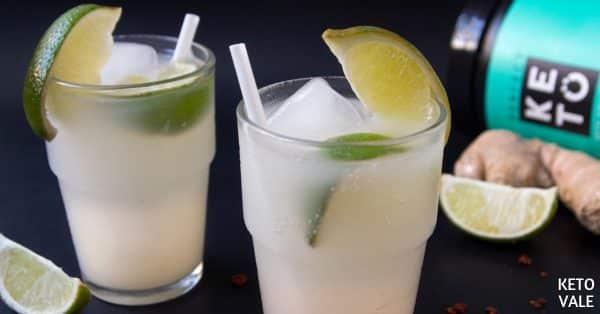 spicy ginger collagen soda
