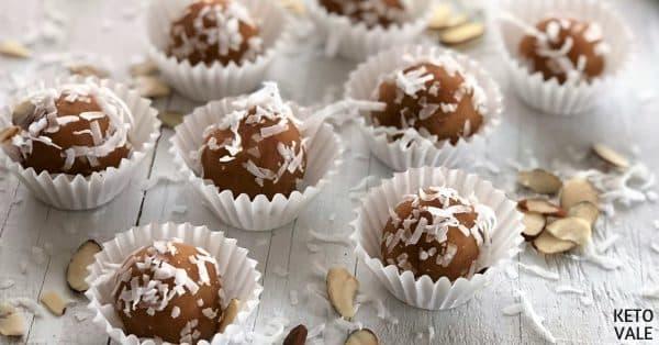 vanilla MCT peanut butter balls