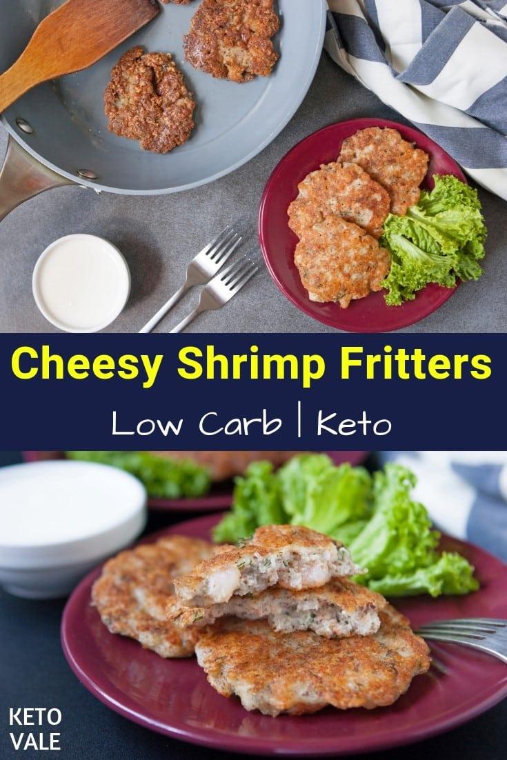 keto shrimp fritters