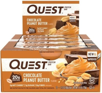 quest peanut chocolate protein bars