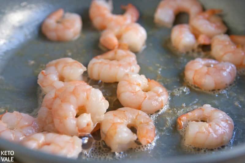 fry shrimp in olive oil