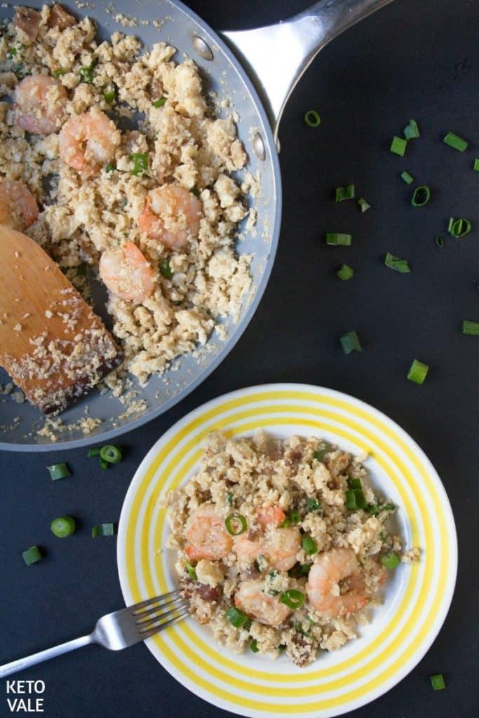 low carb shrimp fried rice