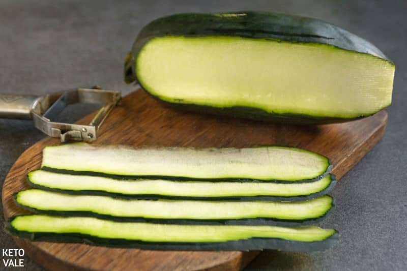 slice zucchini into slices