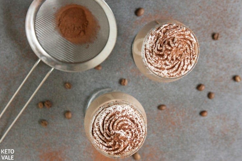 top with whipped cream and cocoa powder