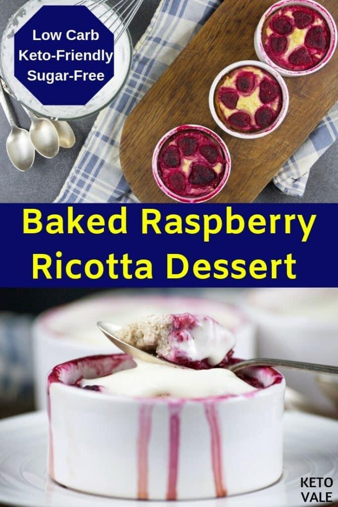 keto ricotta raspberry dessert