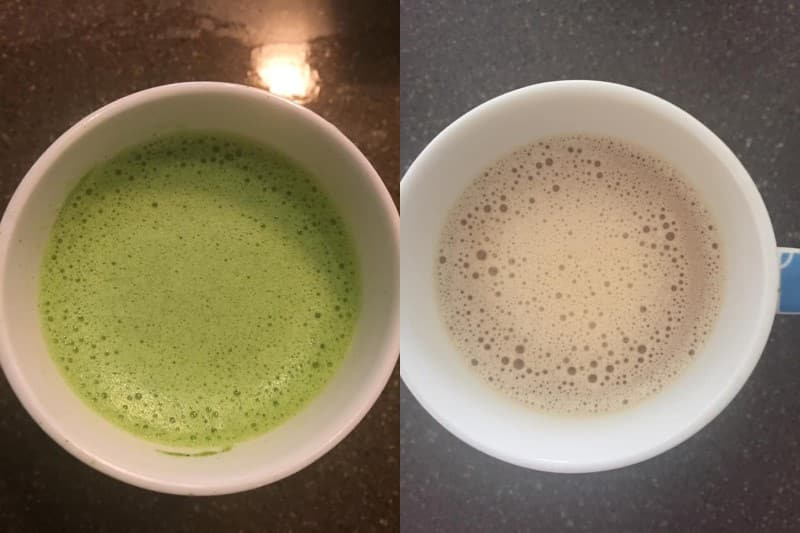 matcha and coffee mixes