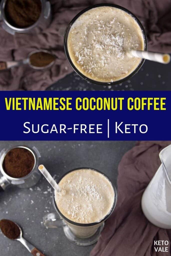 coconut milk in coffee