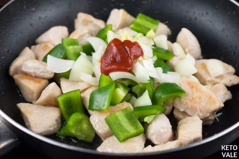 cook diced chicken coconut oil