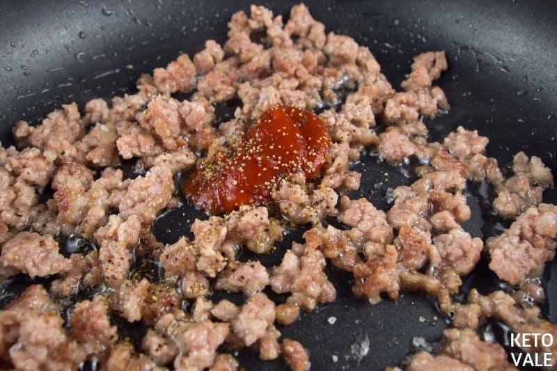 fry pork mince hot sauce
