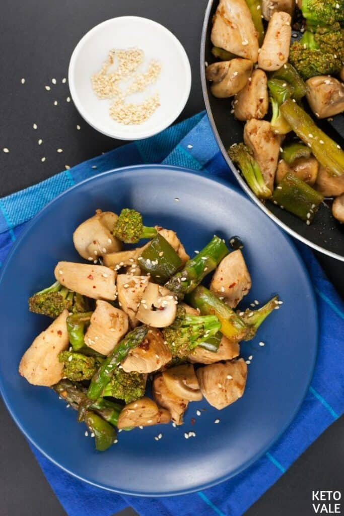 keto chicken vegetables stir fry