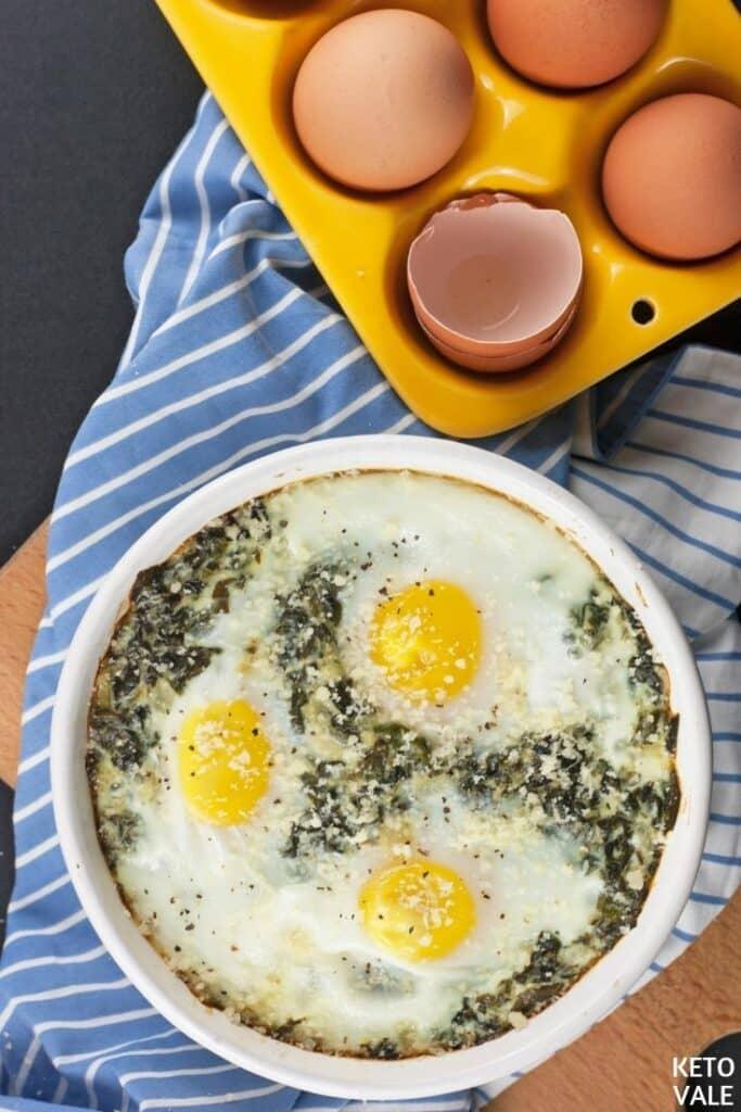 keto-creamy-spinach-egg-casserole