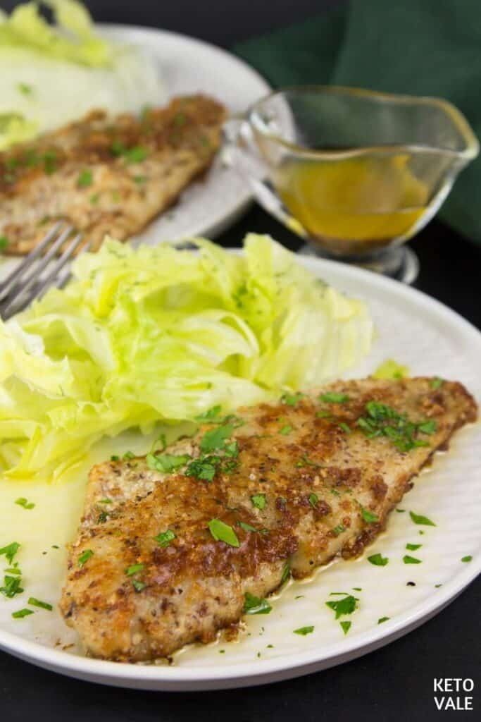 keto lemon butter white fish