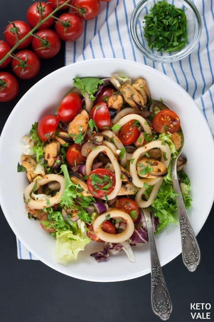keto thai seafood salad