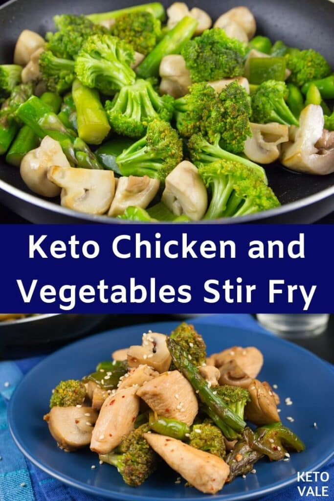 low carb chicken vegetables stir fry
