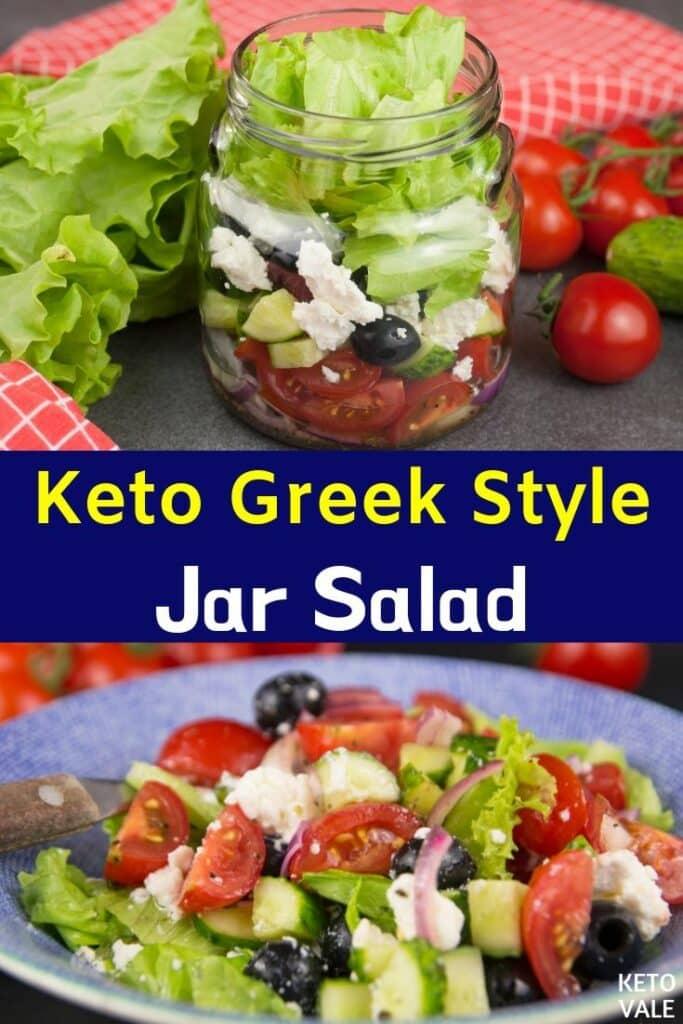 low carb greek style jar salad