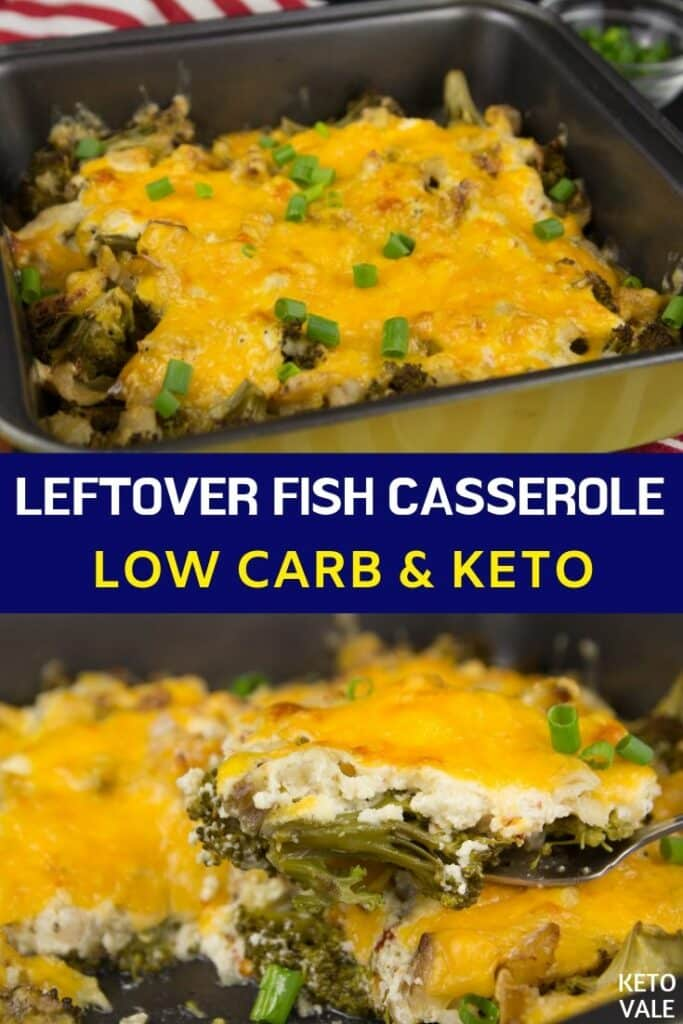 low carb leftover fish casserole