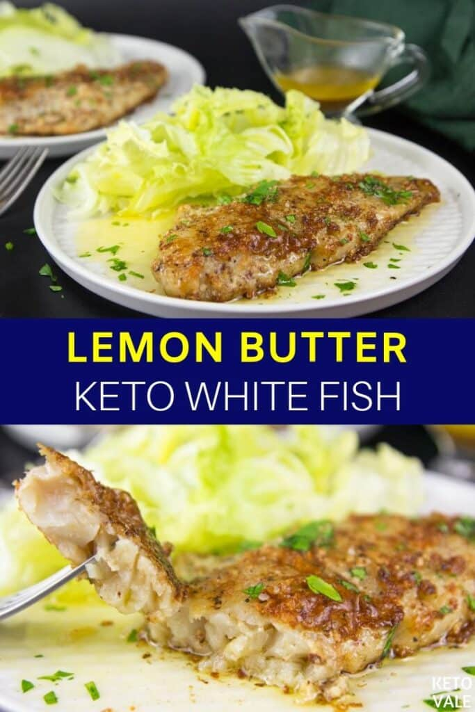 low carb lemon butter white fish