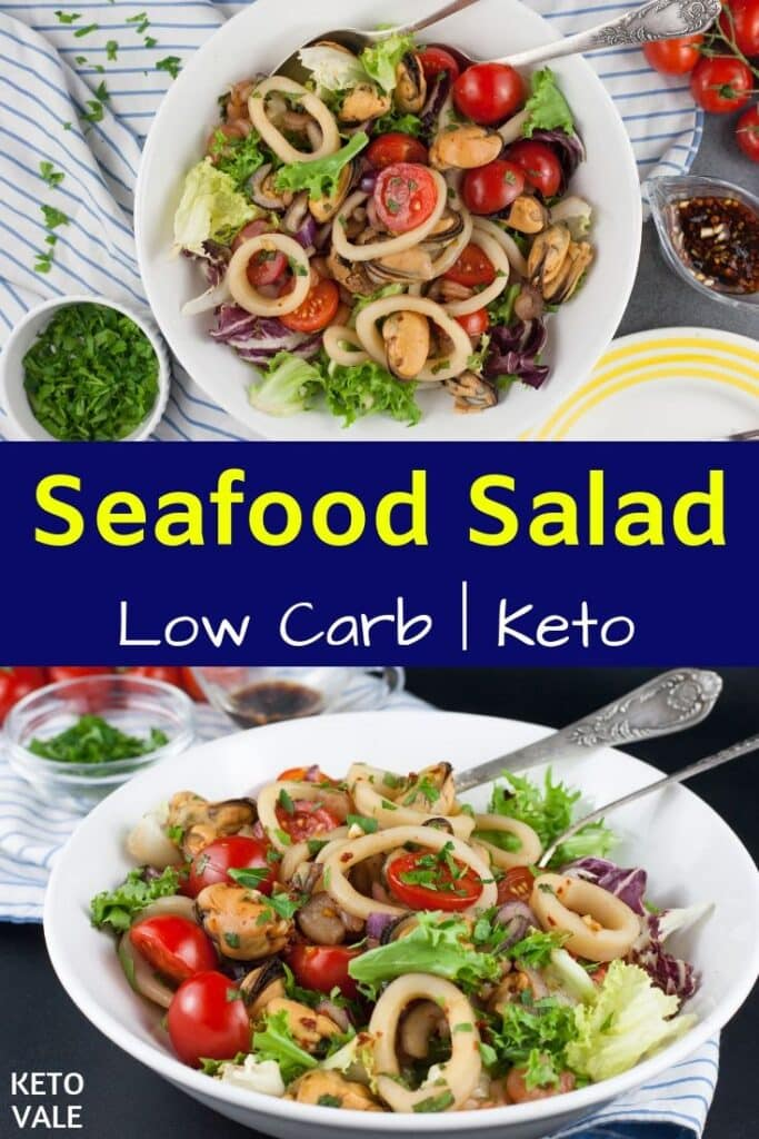 low carb thai seafood salad