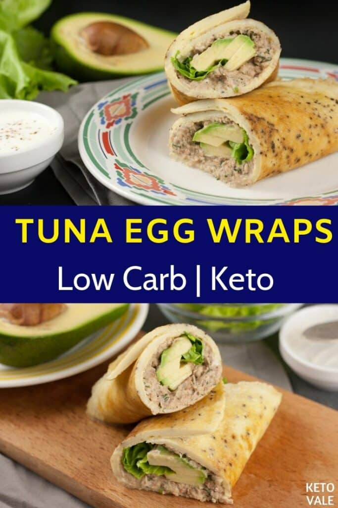 low carb tuna egg wraps