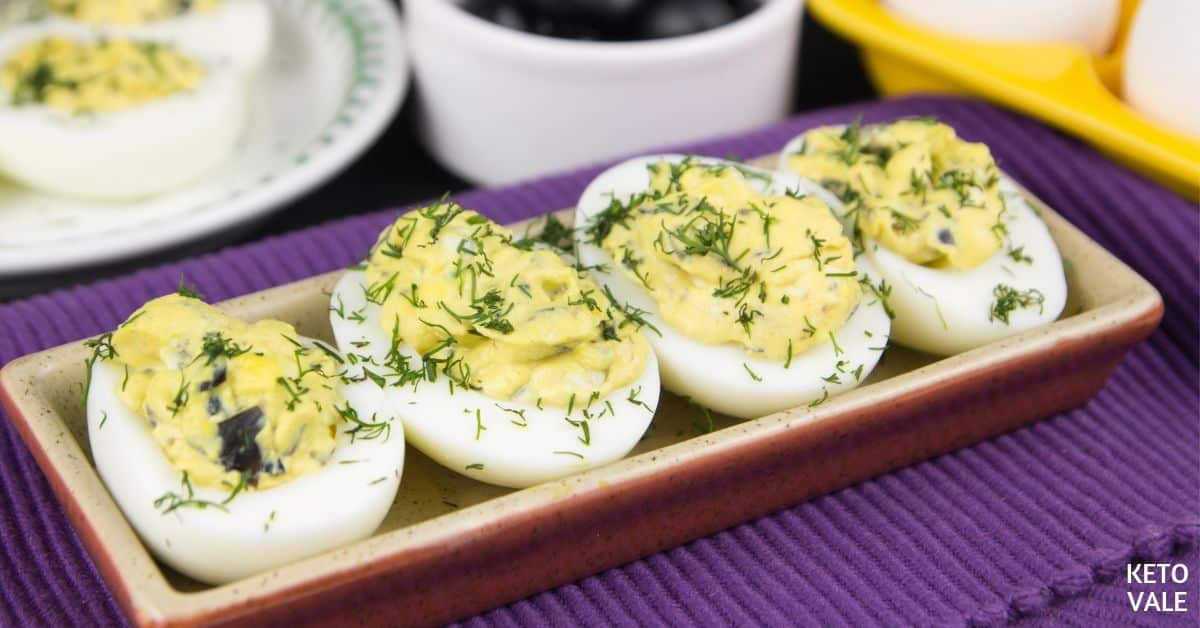 olives and blue cheese eggs