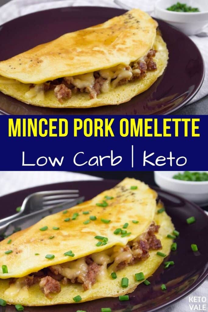 pork omelette with cheese