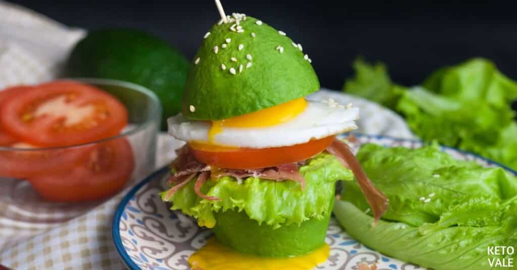 avocado bun burger