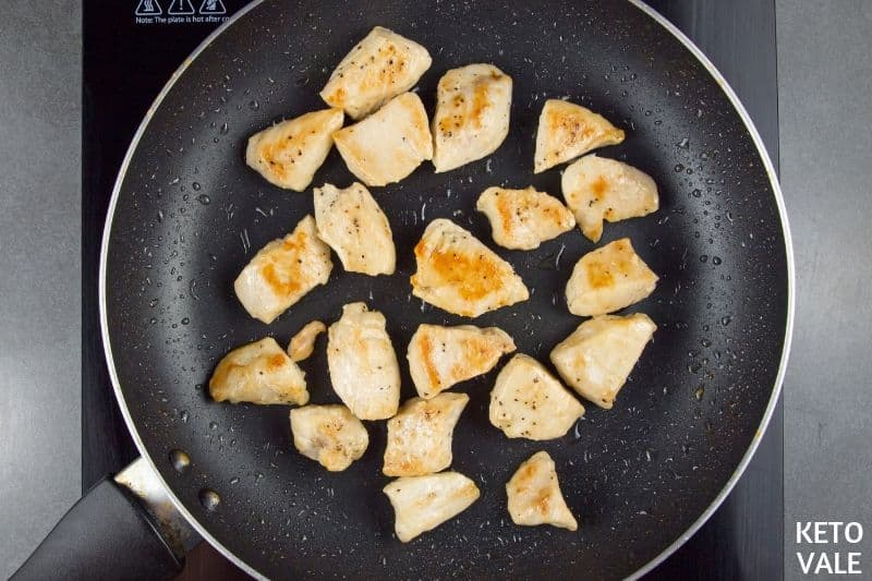 fry chicken breast pieces