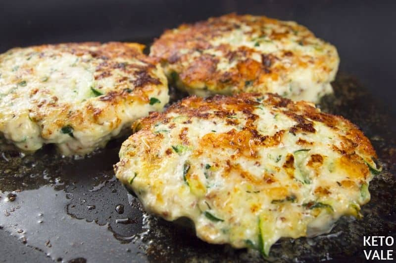 fry chicken zucchini patties