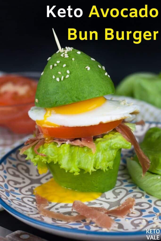 keto avocado bun burger