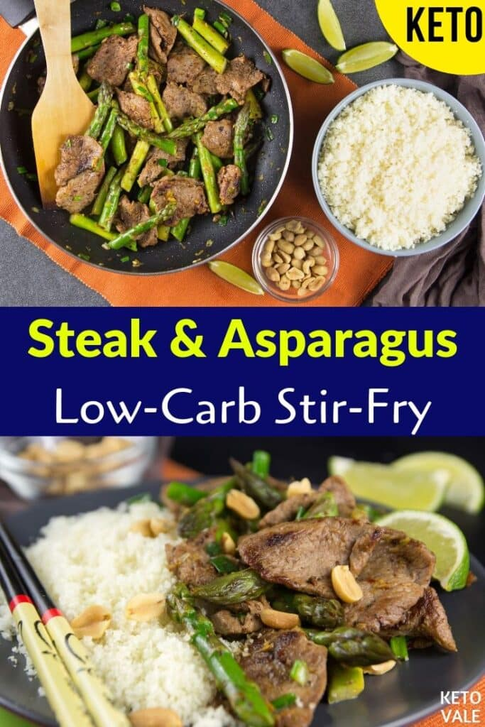 keto steak asparagus stir fry