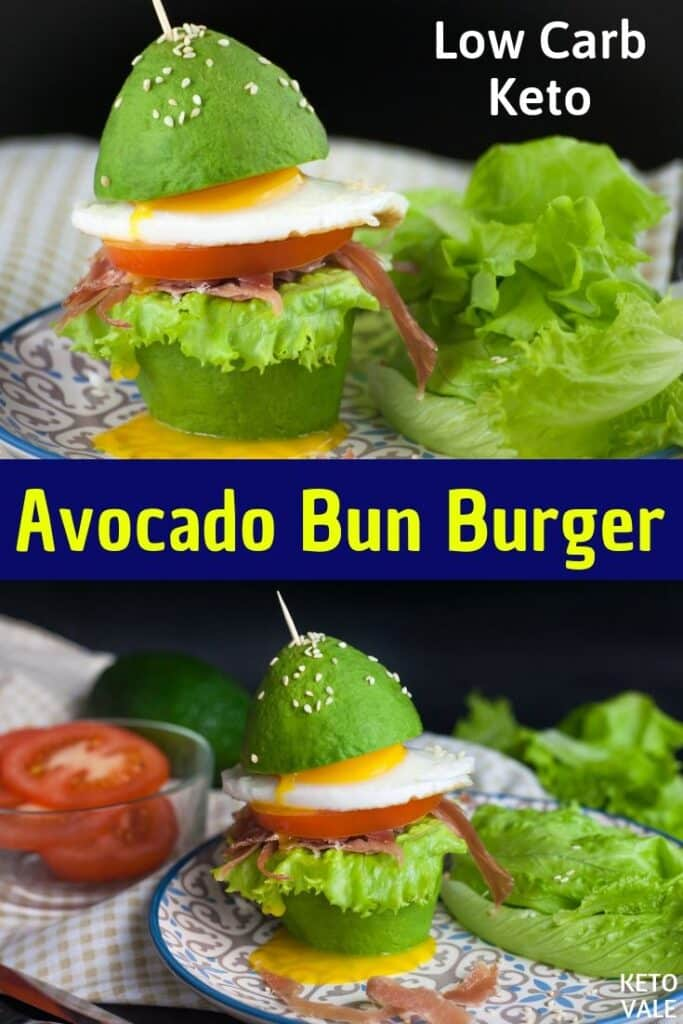low carb avocado bun burger