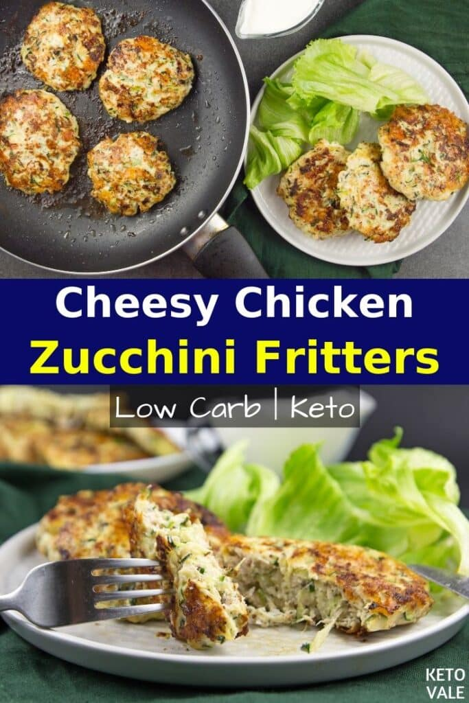 low carb chicken zucchini fritters