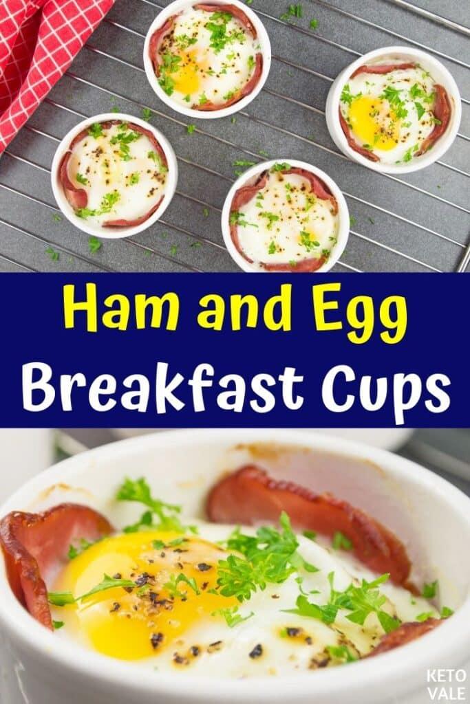low carb ham egg cups