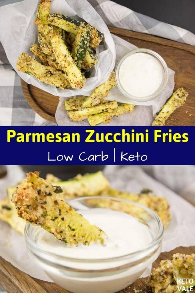 low carb parmesan zucchini fries