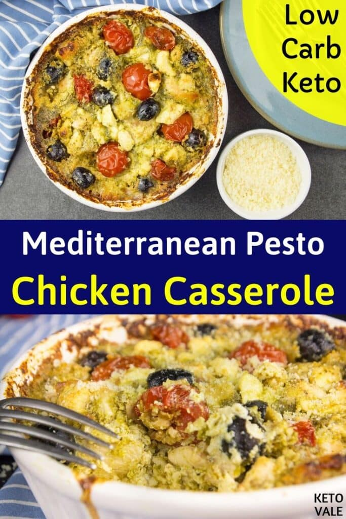 low carb pesto chicken casserole