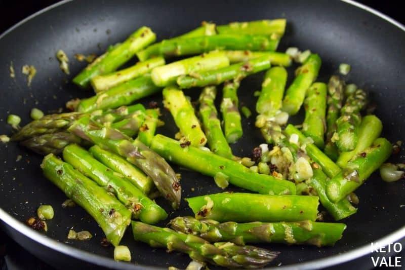 saute asparagus chilli ginger