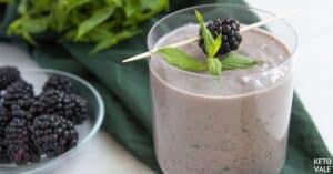 keto blackberry avocado smoothie