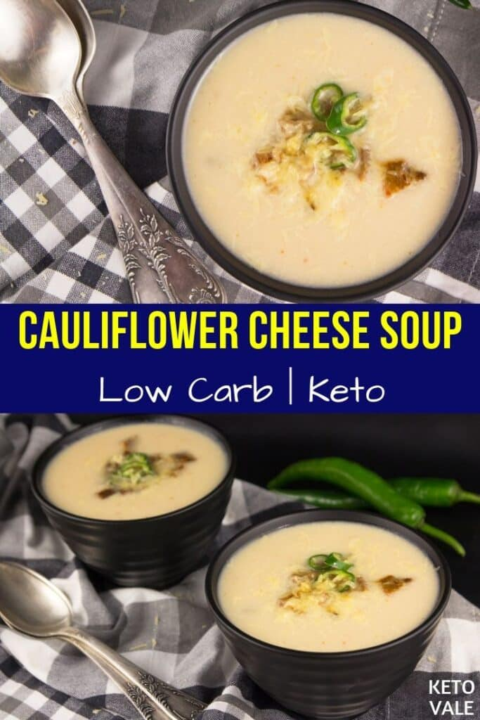 keto cauliflower cheese soup