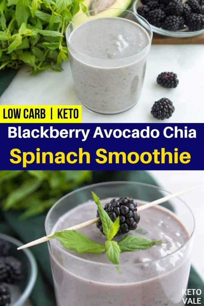 low carb blackberry avocado smoothie