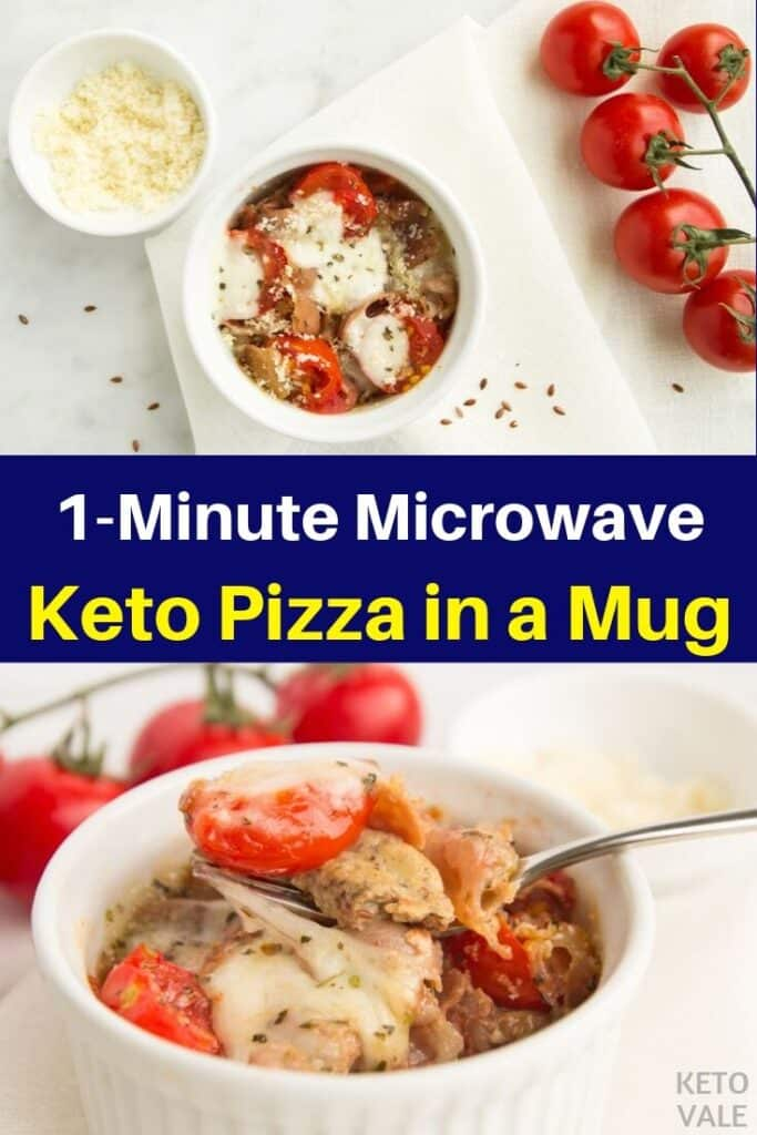 low carb pizza in a mug