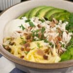 egg chicken avocado breakfast bowl
