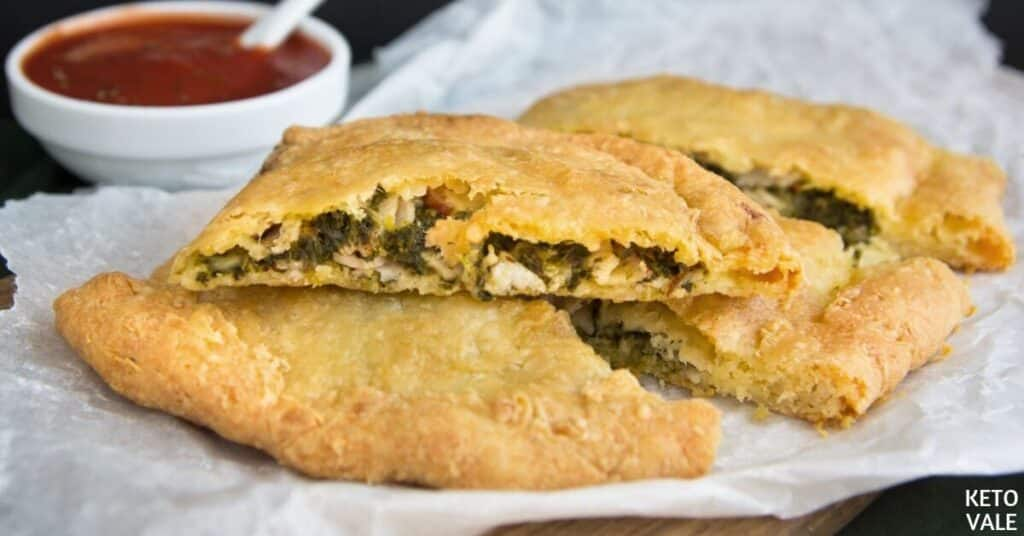 ham cheesee spinach calzone