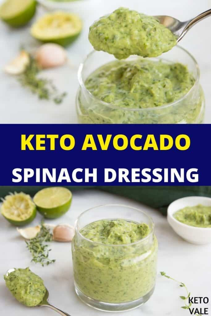 low carb avocado spinach dressing